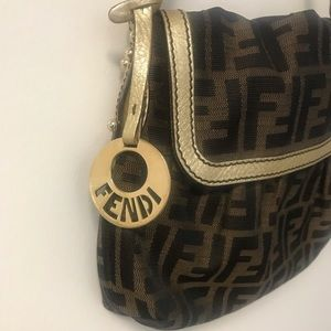 Fendi Zucca Chef Shoulder Bag Authentic